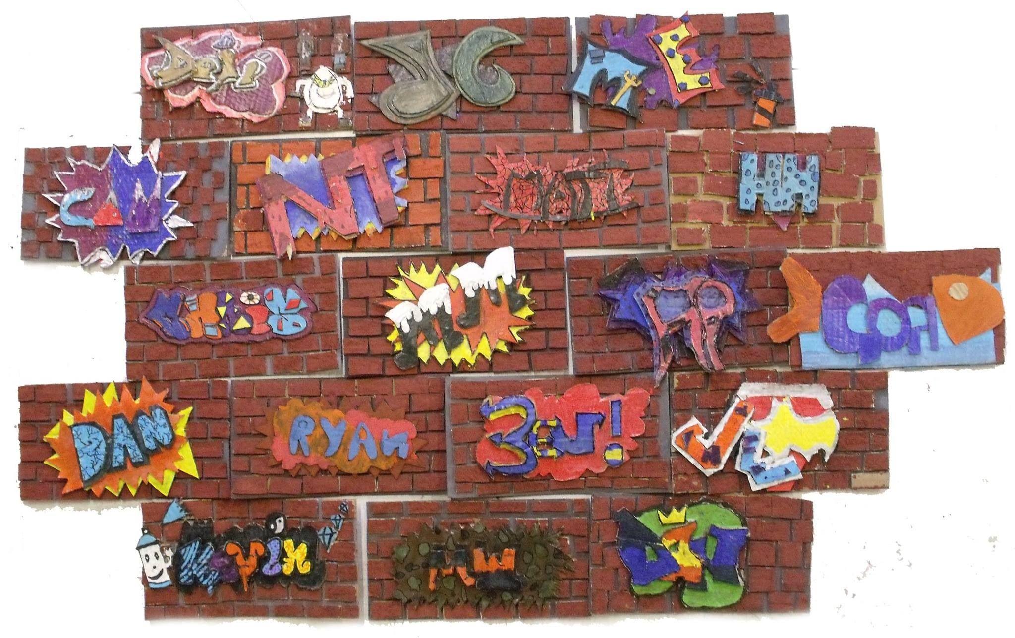 Idea for ks3 boys year 8 3d artwork street art graffiti art activities