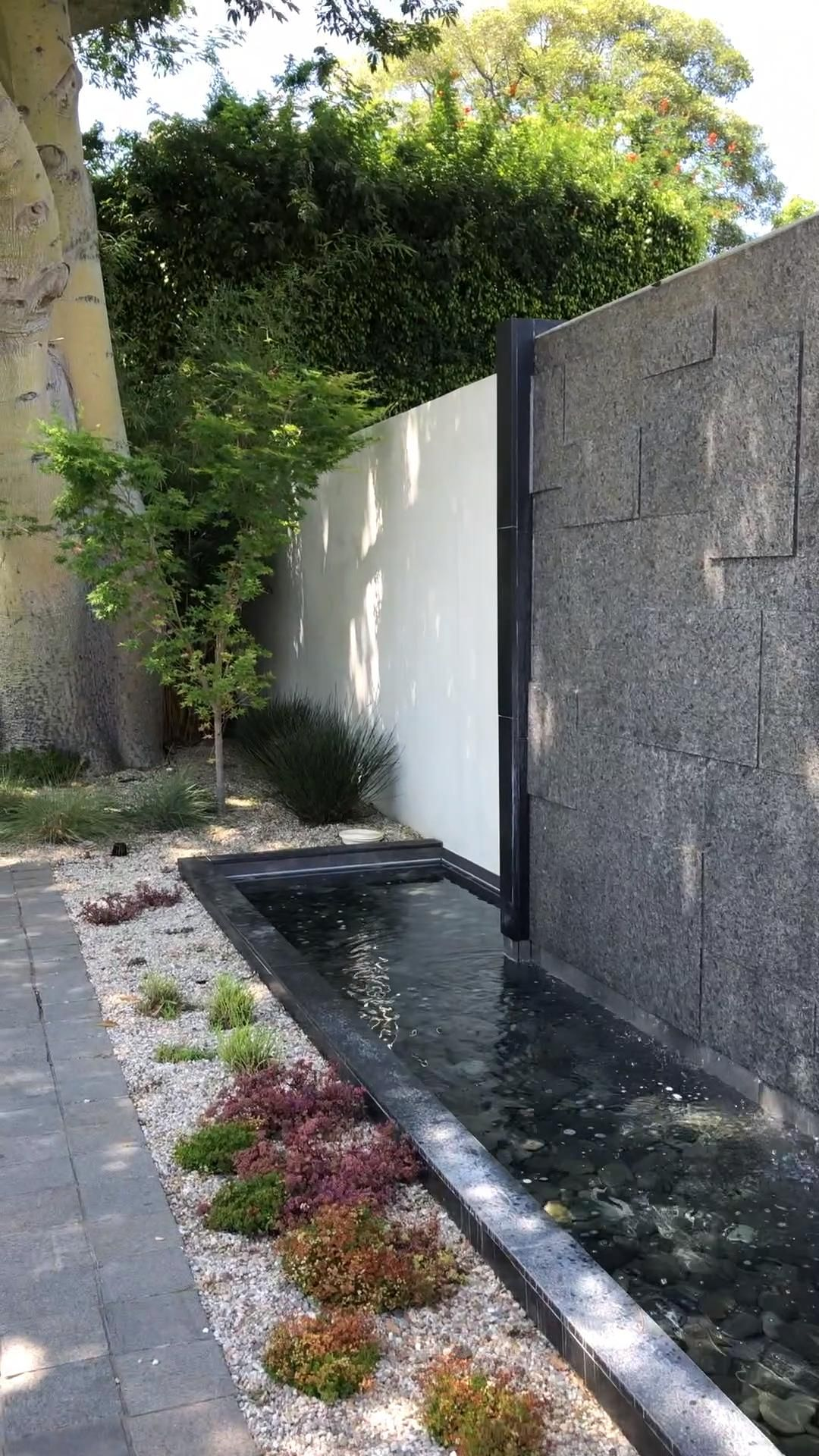 Burlingame Water Feature Wall