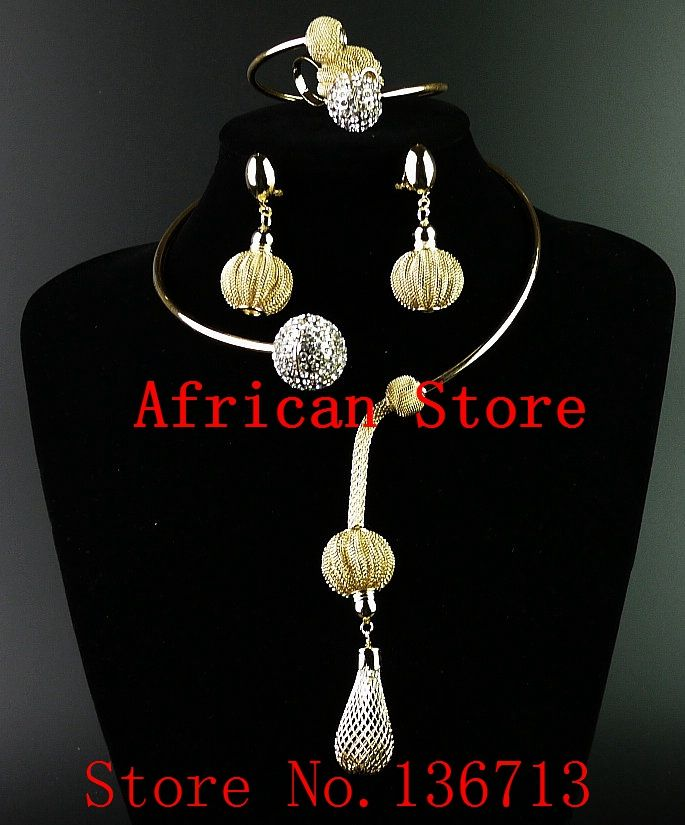 Free shipping italian gold jewelry sets costume african jewelry