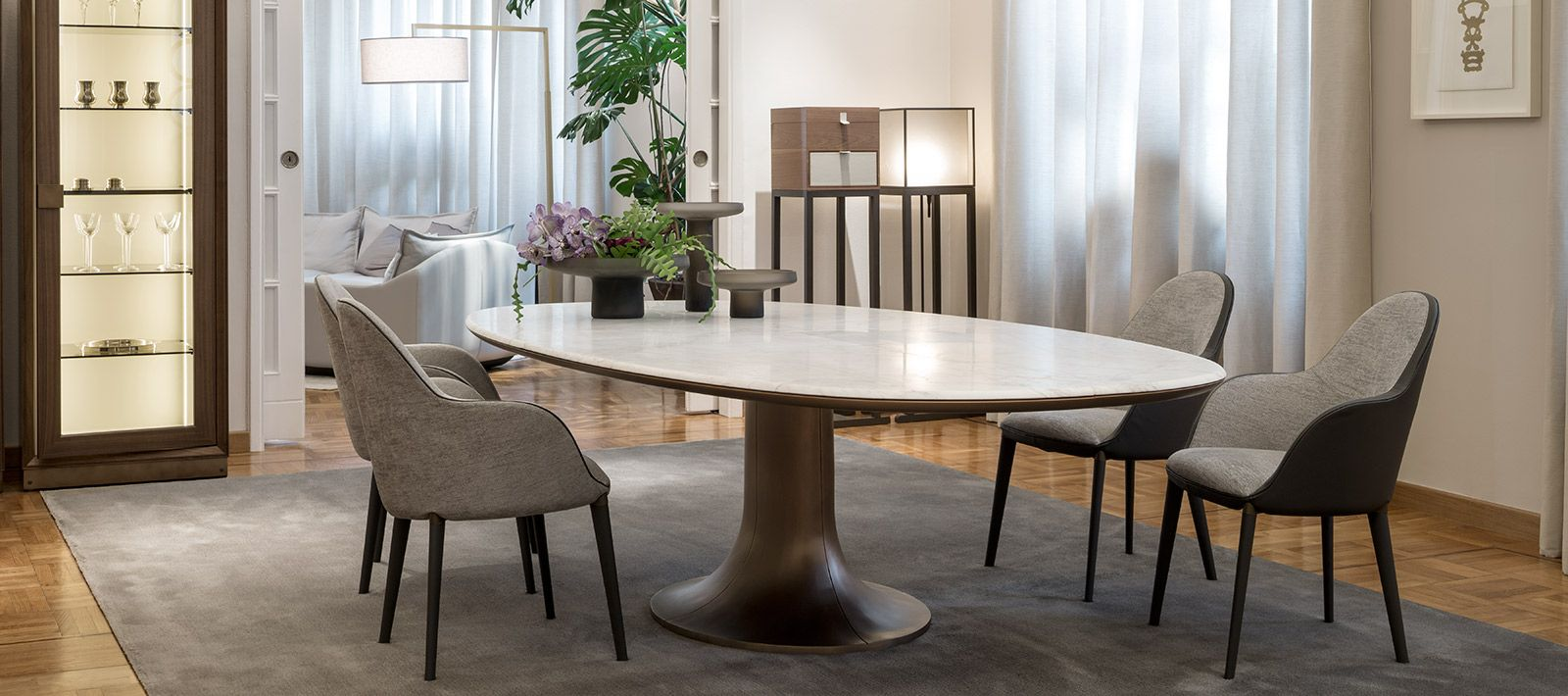 Selene Fully Upholstered Dining Chair By Giorgetti