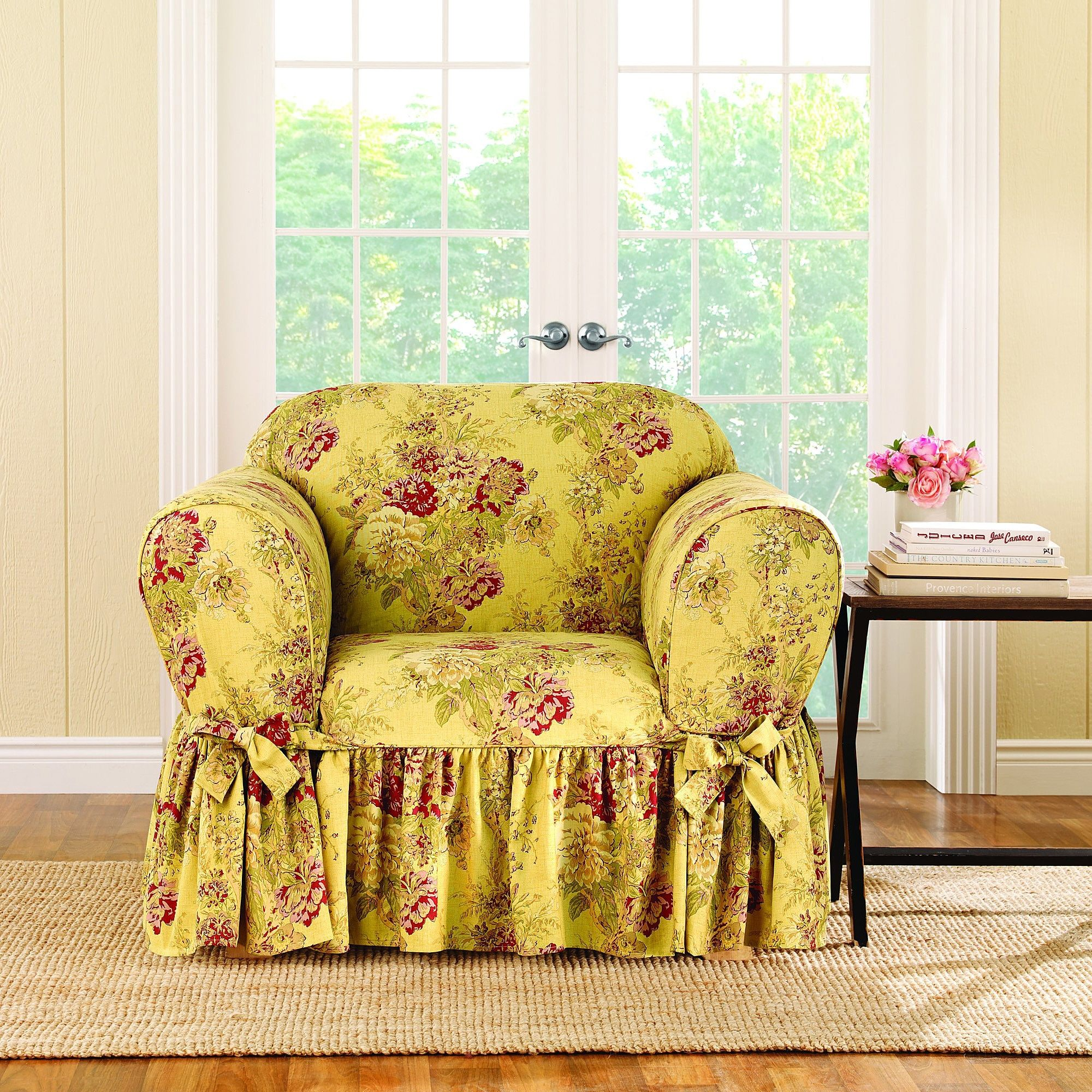 Sure Fit® Ballad Bouquet by Waverly™ Chair Slipcover