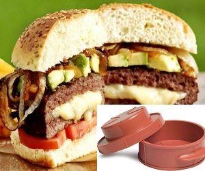 stuffed burger press