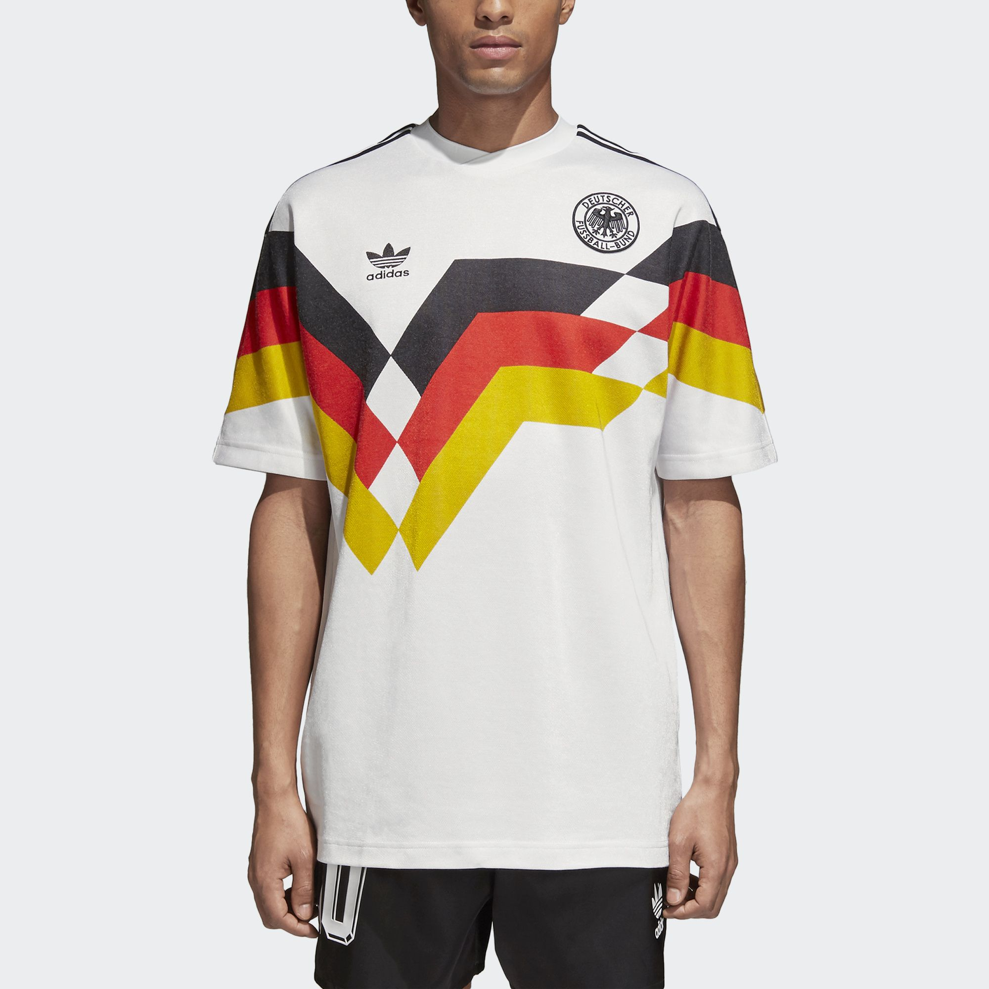 Millas botella congestión  Shop the Germany Jersey - White at adidas.com/us! See all the styles and  colors of Germany Jersey - White at the offi… | World cup jerseys, Adidas  men, Mens tshirts