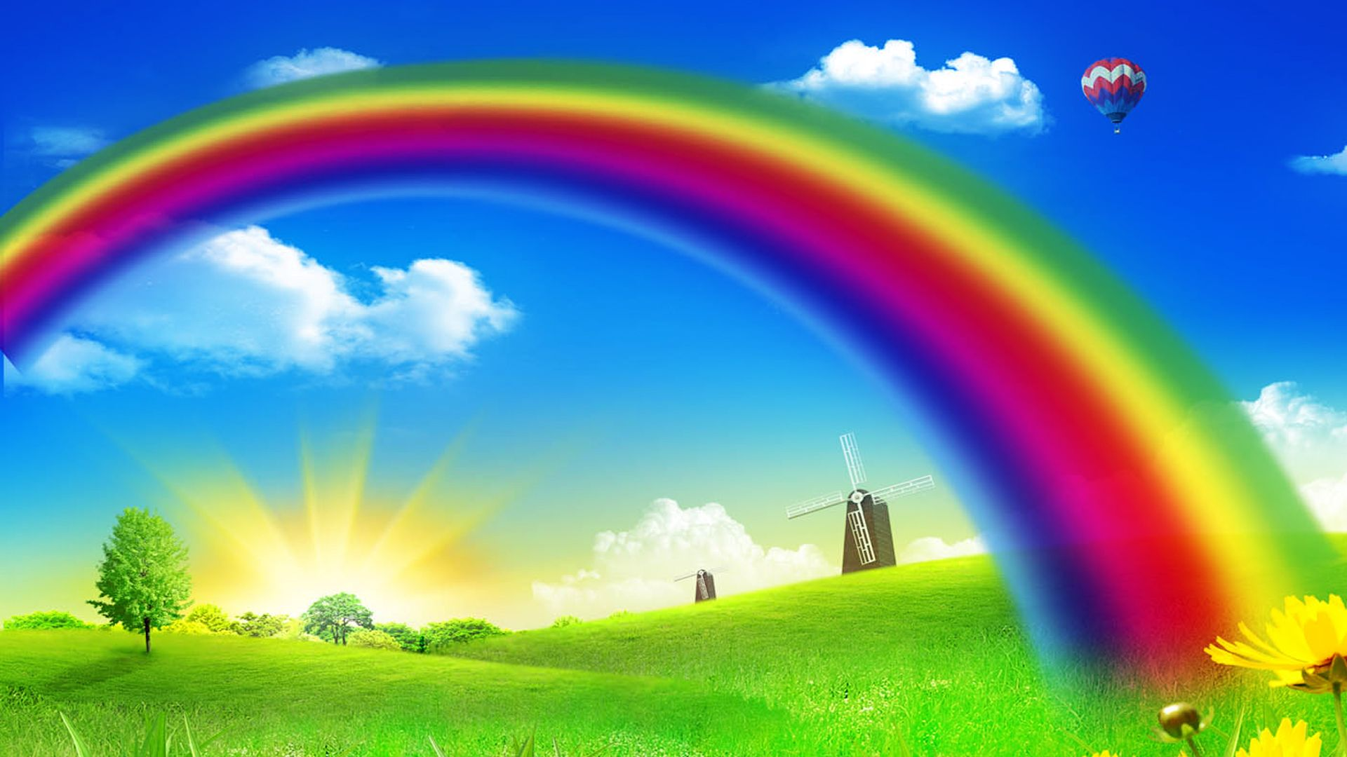 Download Cartoon Rainbow wallpapers to your cell phone cartoon
