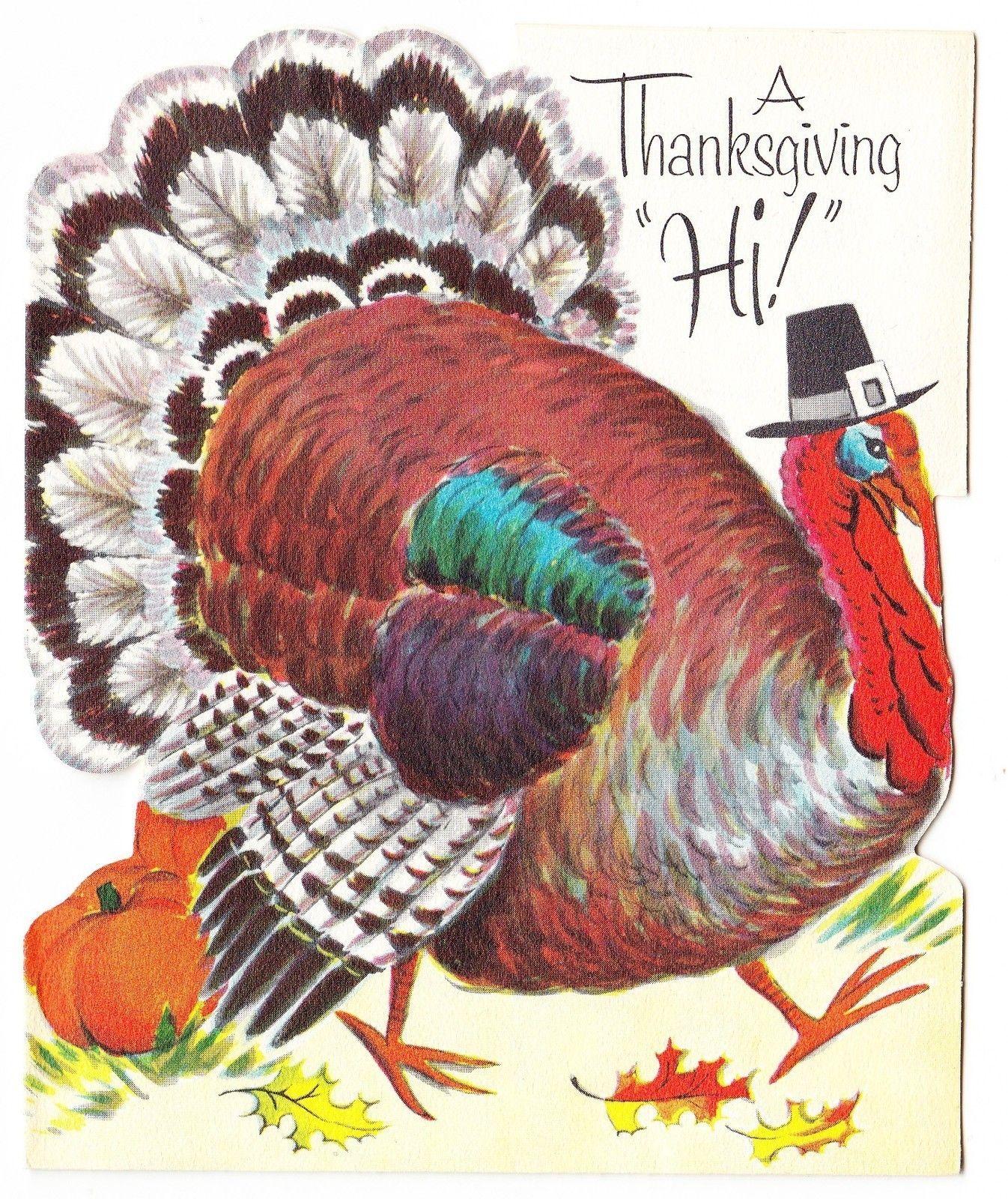 Vintage Turkey Dressed Like A Pilgrim