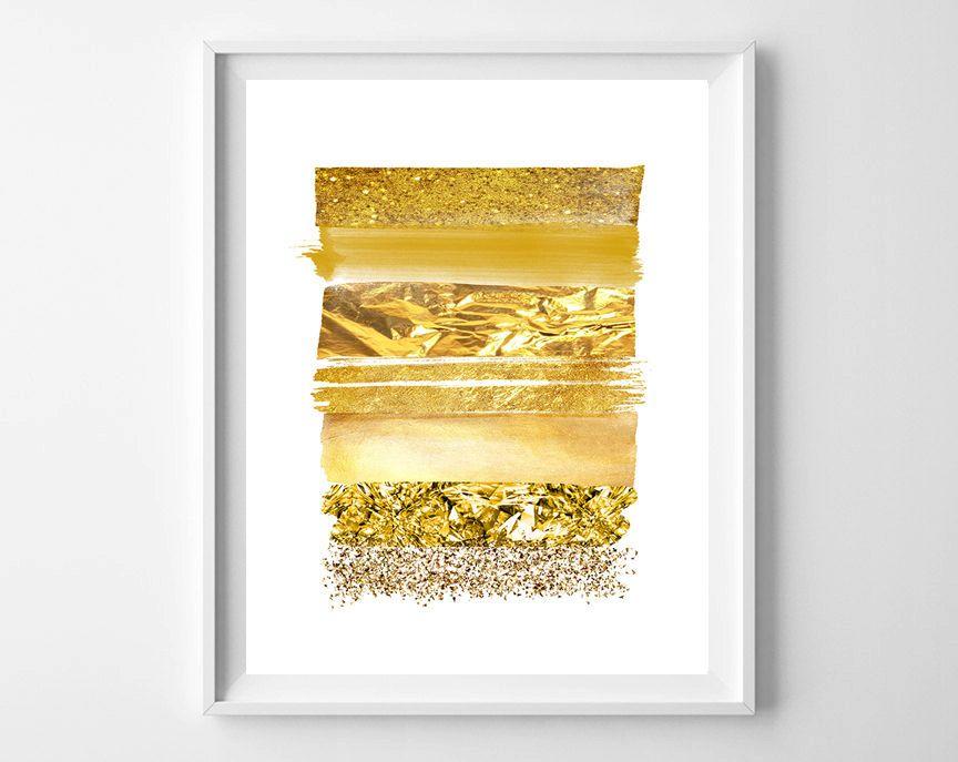 Gold stripe Wall Art,Gold stripes print,Gold Digital Art,Gold Decor ...