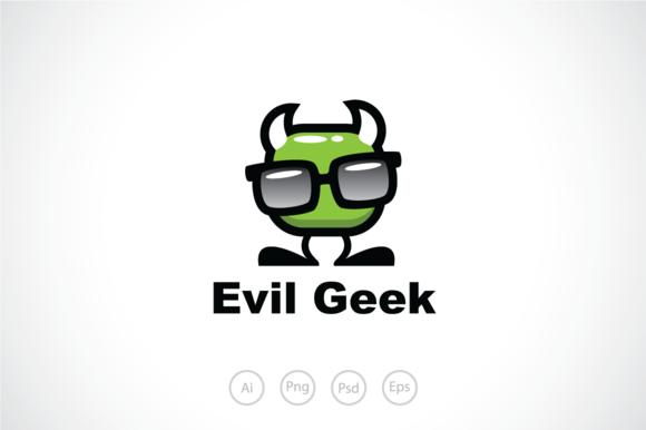 Evil Devil Geek Logo Template Creativework247