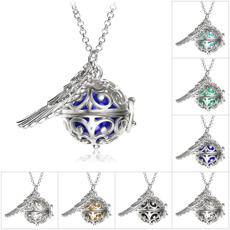 Fine jewelry pregnancy balls bola 2 colors cage angel pendants baby fine jewelry pregnancy balls bola 2 colors cage angel pendants baby chime hollow out metal chain aloadofball Gallery