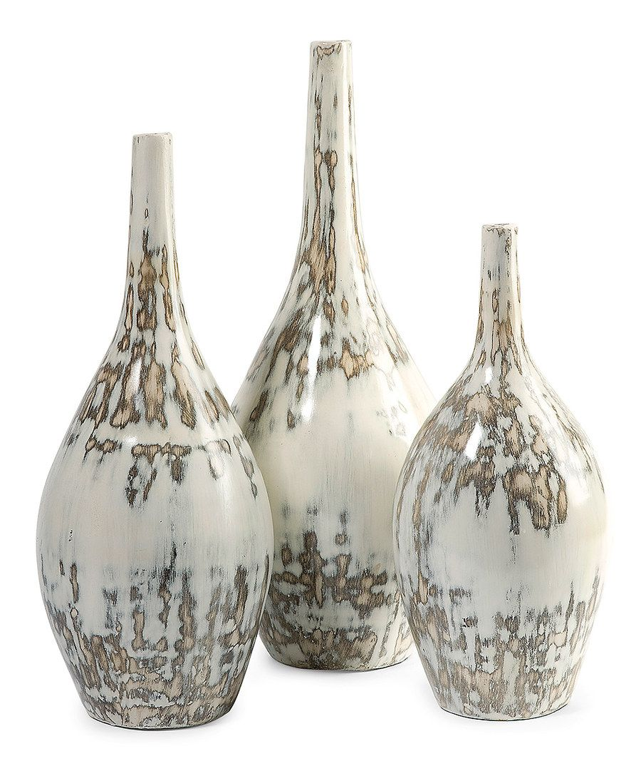 Look at this Hampton Mexican Three-Piece Pottery Vase Set on #zulily today!