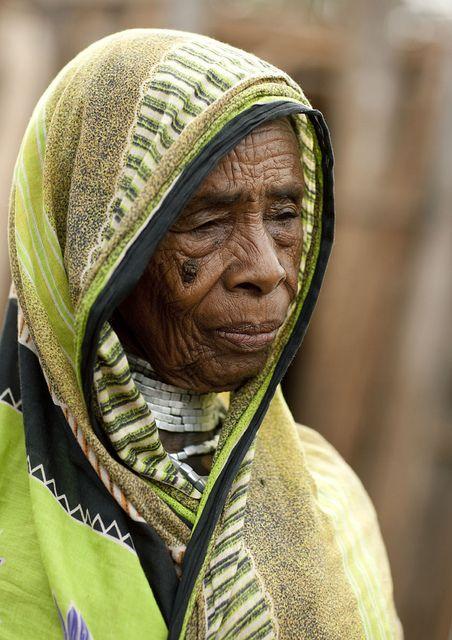 Borana old woman in El Dima - Ethiopia she looks like she has been through allot