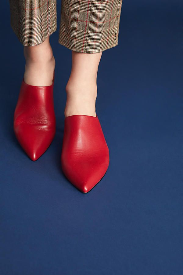 91d104cb7edff Pour La Victoire Korrine Kitten-Heeled Mules | Seeing Red | Style ...