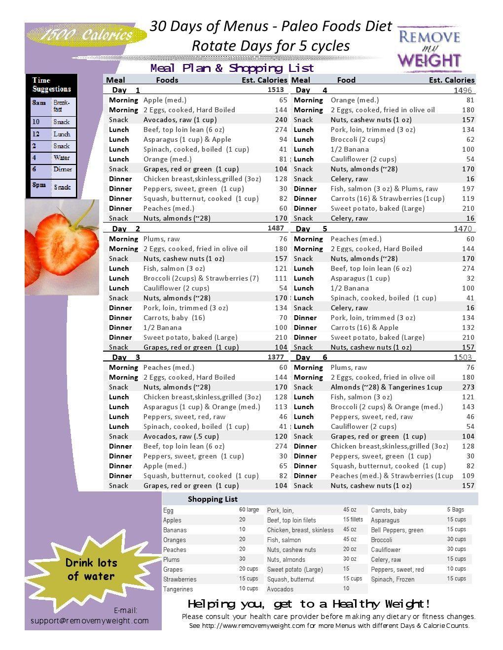 1500 Calorie Diet Paleo Foods 30 Day Plan Whatispaleo Paleo Diet Meal Plan 1800 Calorie Meal Plan Paleo Diet Menu