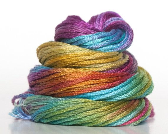 Hand Dyed Embroidery Floss, embrodiery thread, Cross Stitch Thread