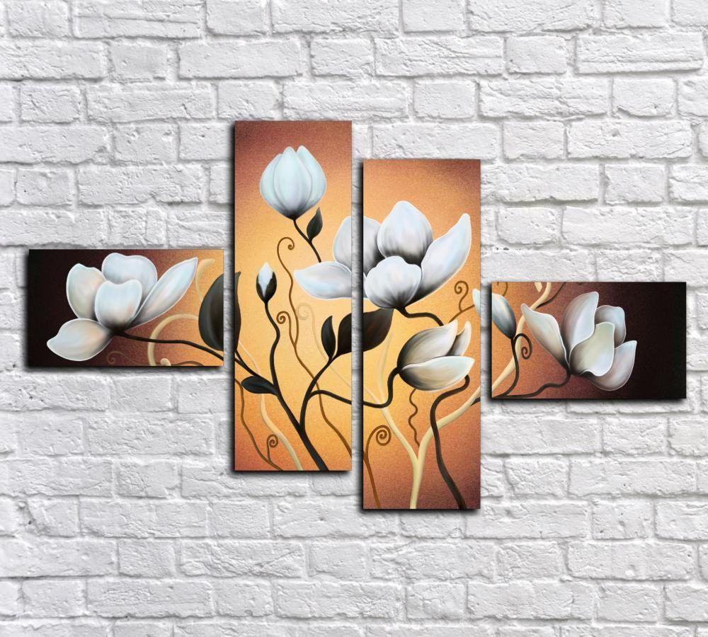 Карандашом про, картинки триптих цветы