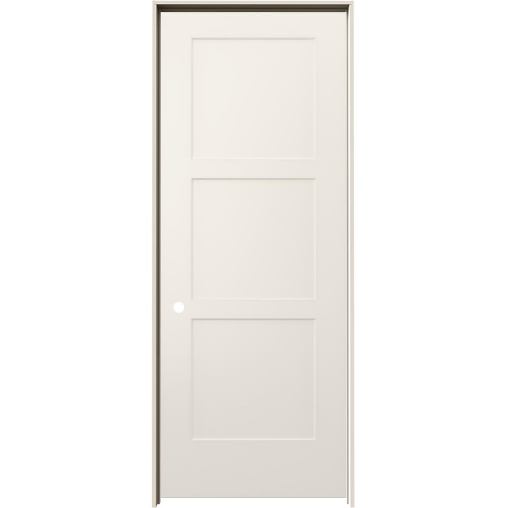 Jeld Wen 32 In X 80 In Birkdale Primed Right Hand Smooth Hollow Core Molded Composite Single Prehung Interior Door Thdjw235300164 The Home Depot In 2020 Prehung Interior Doors Doors Interior Interior Door Styles