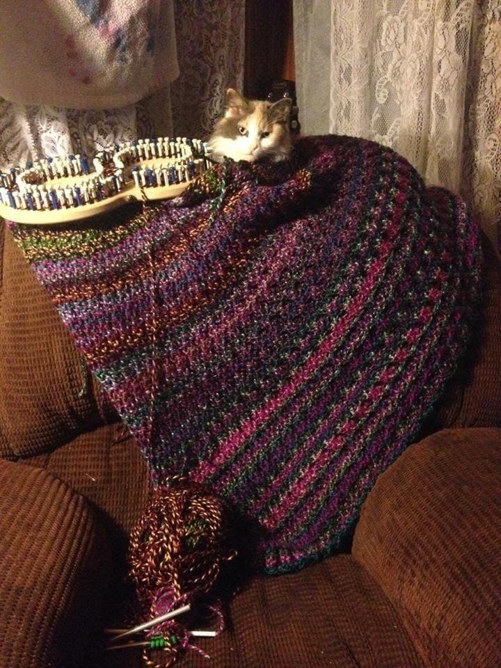 Loom Knit Inverted Ribbed Stitch Blanket Start To Finish Crochet