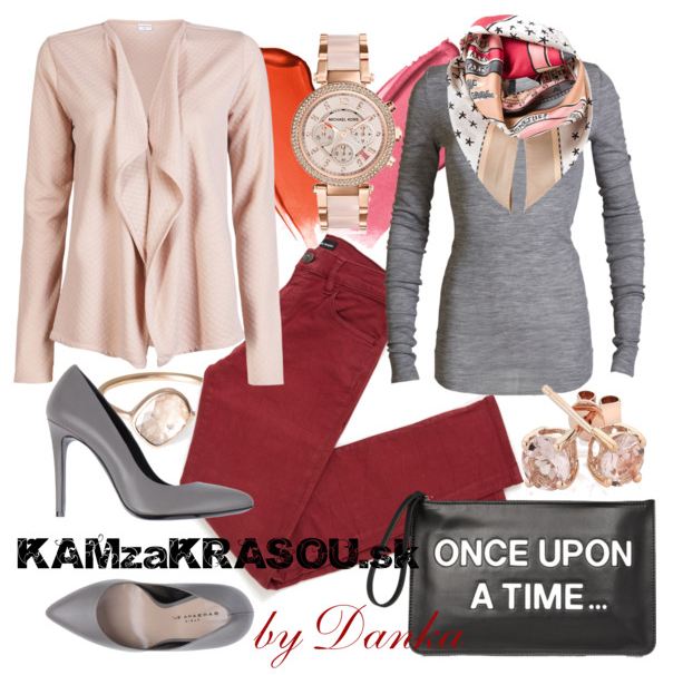 Kabelka s nápisom - KAMzaKRÁSOU.sk #fashion #pink #grey #red #jewelry