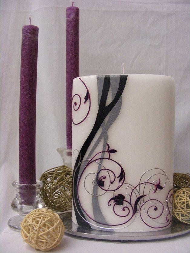 Hochzeitskerze romantisch modern Kerzen