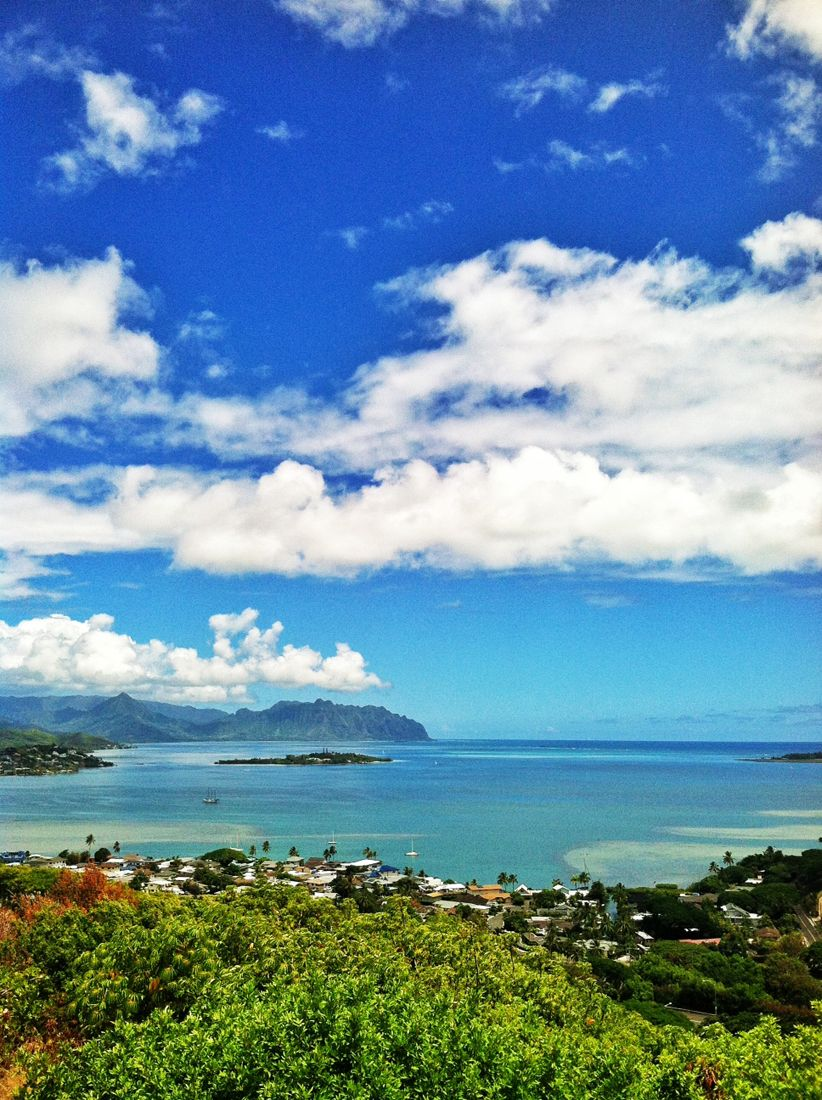 A view of Kaneohe Bay on the Windward side of Oahu. What a beautiful day!