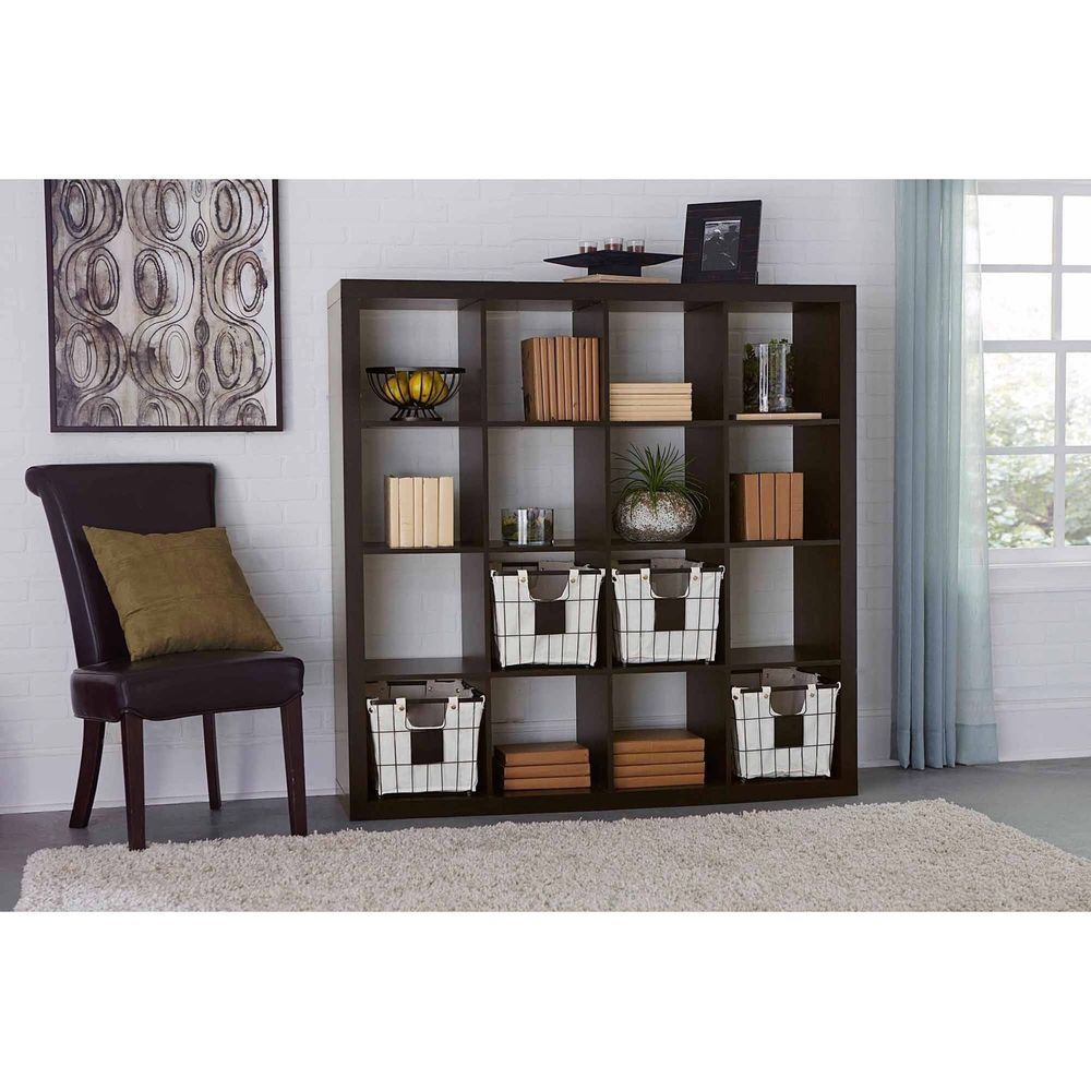 perfectallinacelad book bookcase pin case drawer display espresso contemporary shelf storage furniture bookshelf