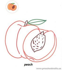 Fruits Coloring Pages For Kids Preschool And Kindergarten