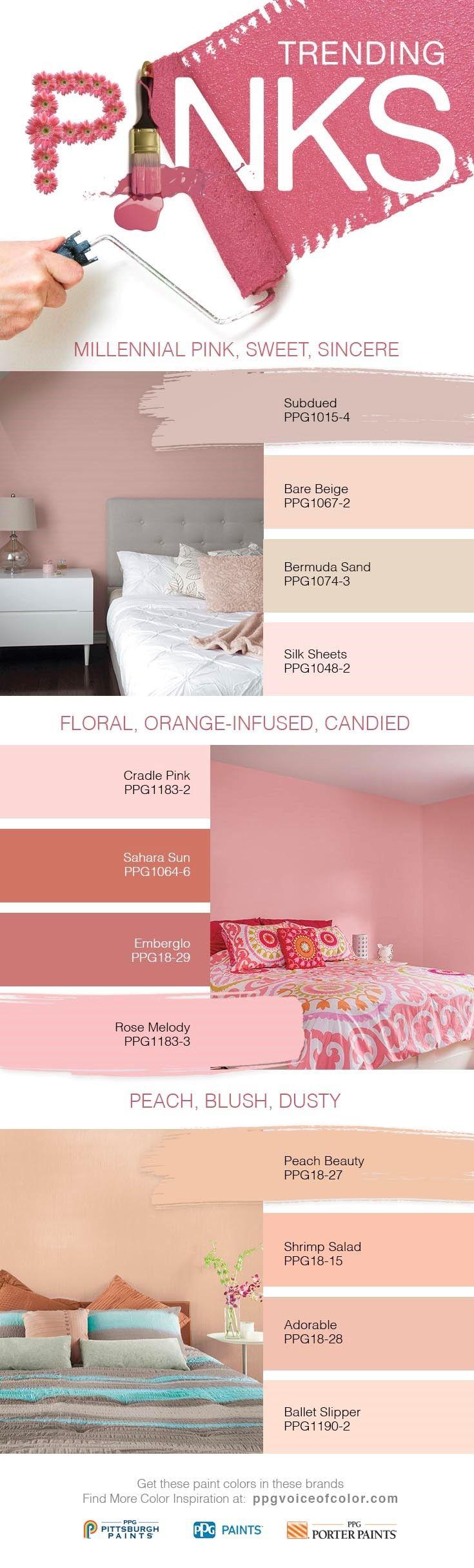 2017 Trending Pink Colors + Millennial Pink Paint Colors   Sweet ...