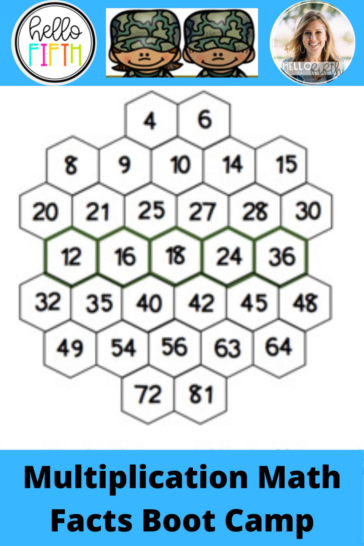 Multiplication Math Facts Boot Camp Math Facts Math Multiplication Activities [ 1500 x 1000 Pixel ]