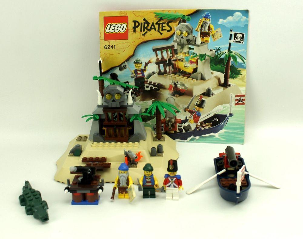 Complete Lego Pirates 6241 Loot Island Weboys10 Spy Jet Escape 8638