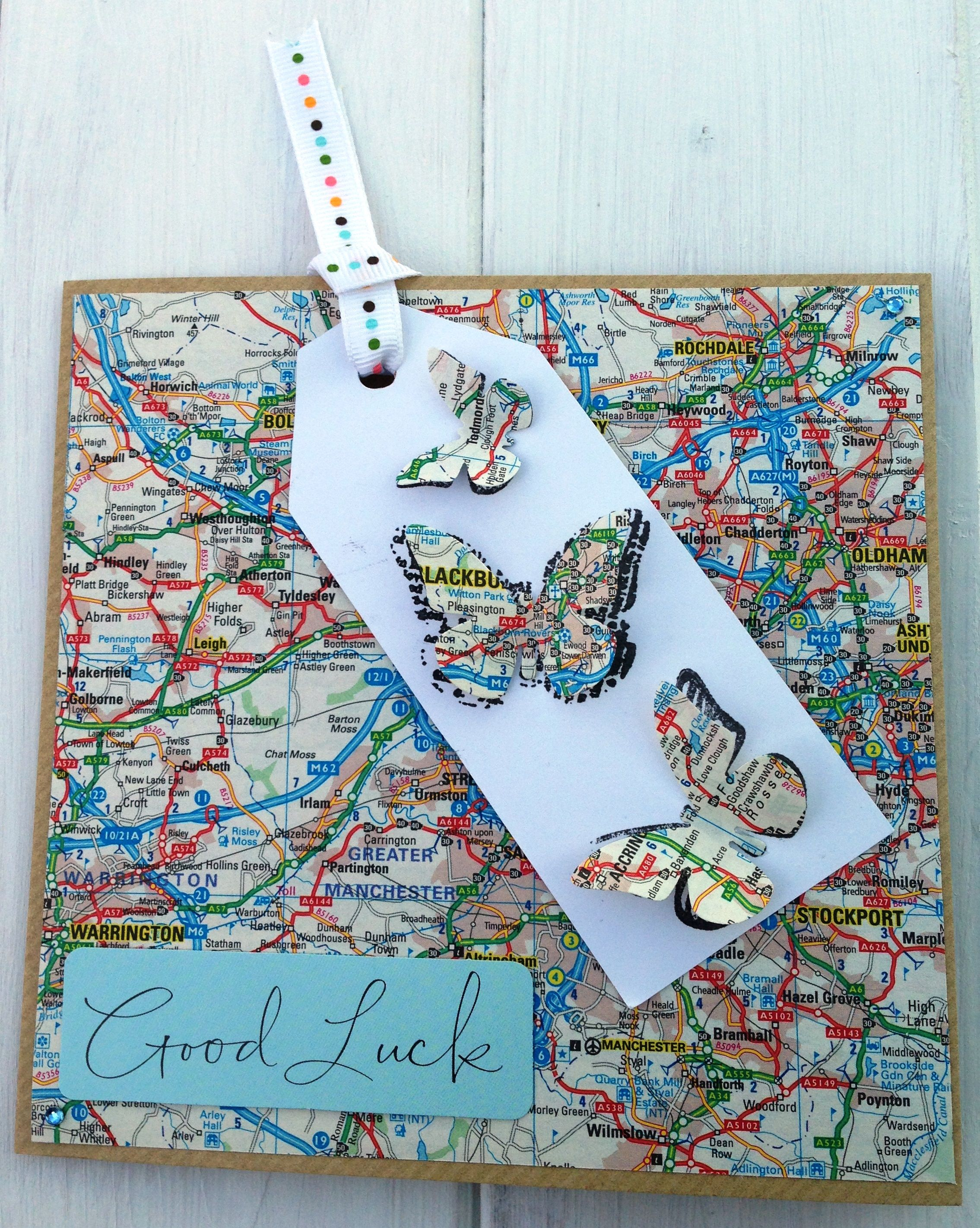 A twist on a good luck card many uses moving home travel new job