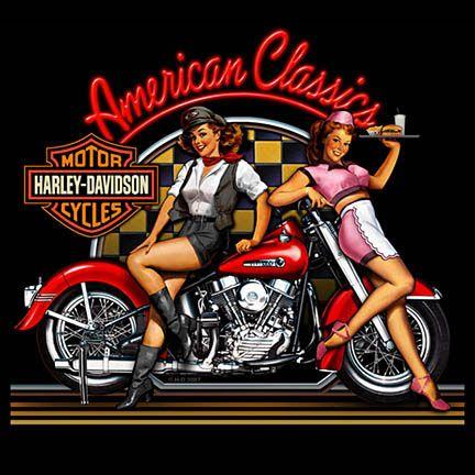 Harley davidson american classic babes garage sign for American classics garage