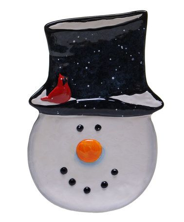 Look at this #zulilyfind! Snowman Candy Plate by Certified ...