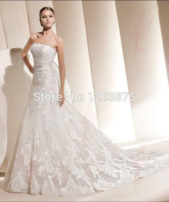 Cheap Blanco / Marfil Encaje vestido de novia de la boda vestido de ...