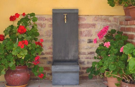 Fontaine de jardin zinc LUPIN 0.8 Misterzinc