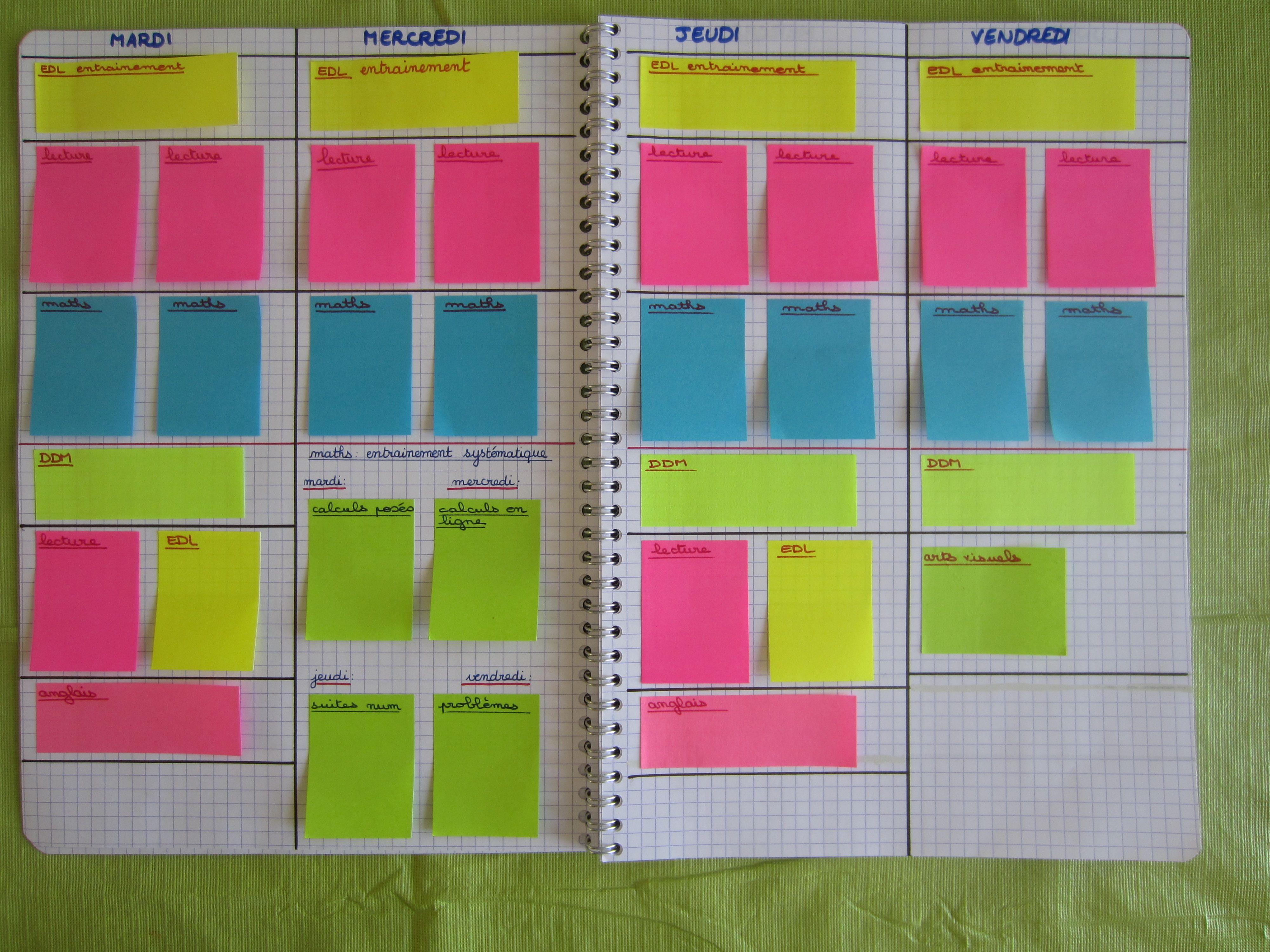 cahier journal post it gestion classe pinterest ce1 classe et la classe. Black Bedroom Furniture Sets. Home Design Ideas