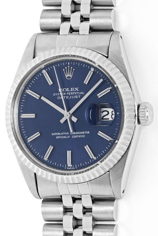 Weissgold Uhr EdelstahlHerren Rolex Datejust Luenette n0wN8myOvP