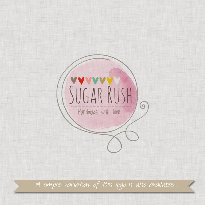 Pre-made Logo or Watermark Design - Sugar Rush ...