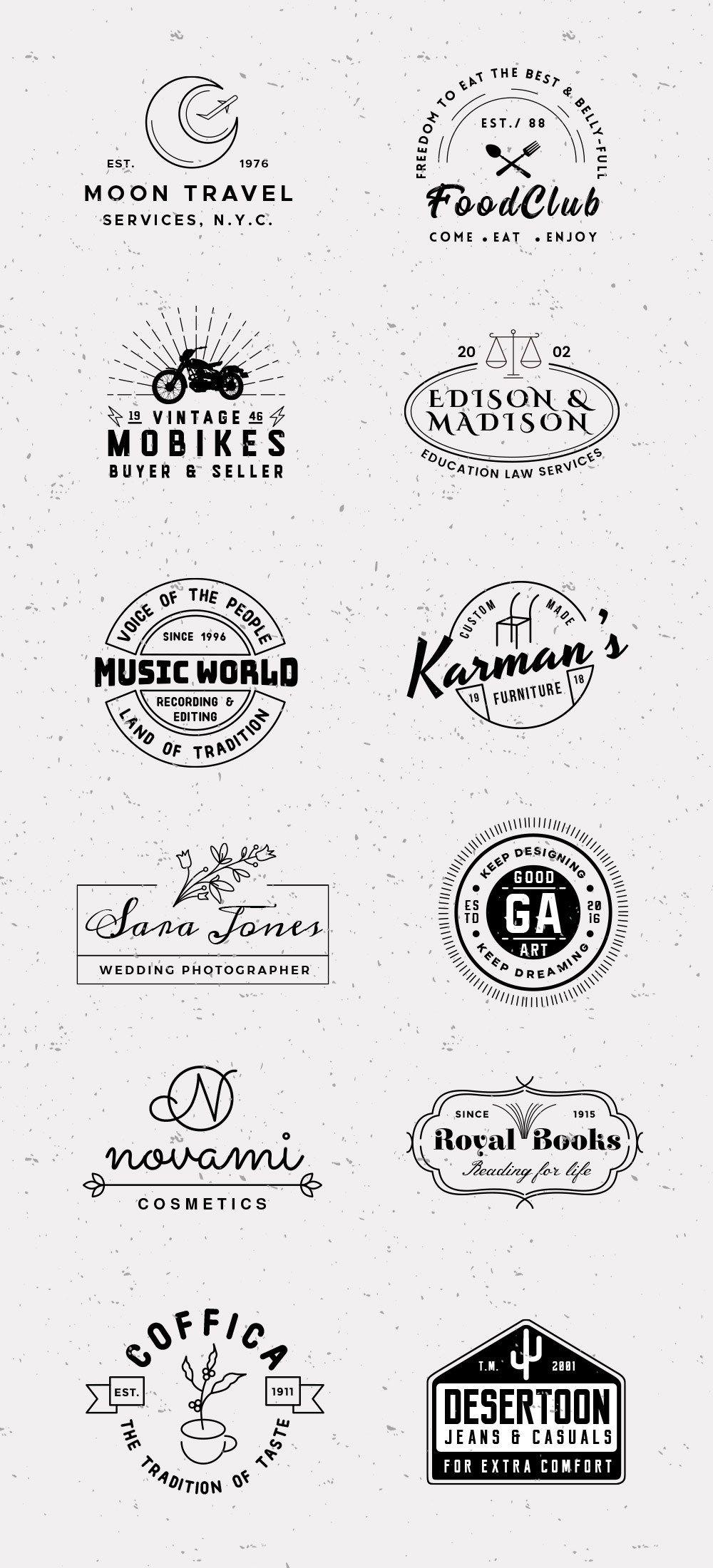 12 Vintage Logo Templates Graphicsfuel Logo Design Free Templates Vintage Logo Logo Templates