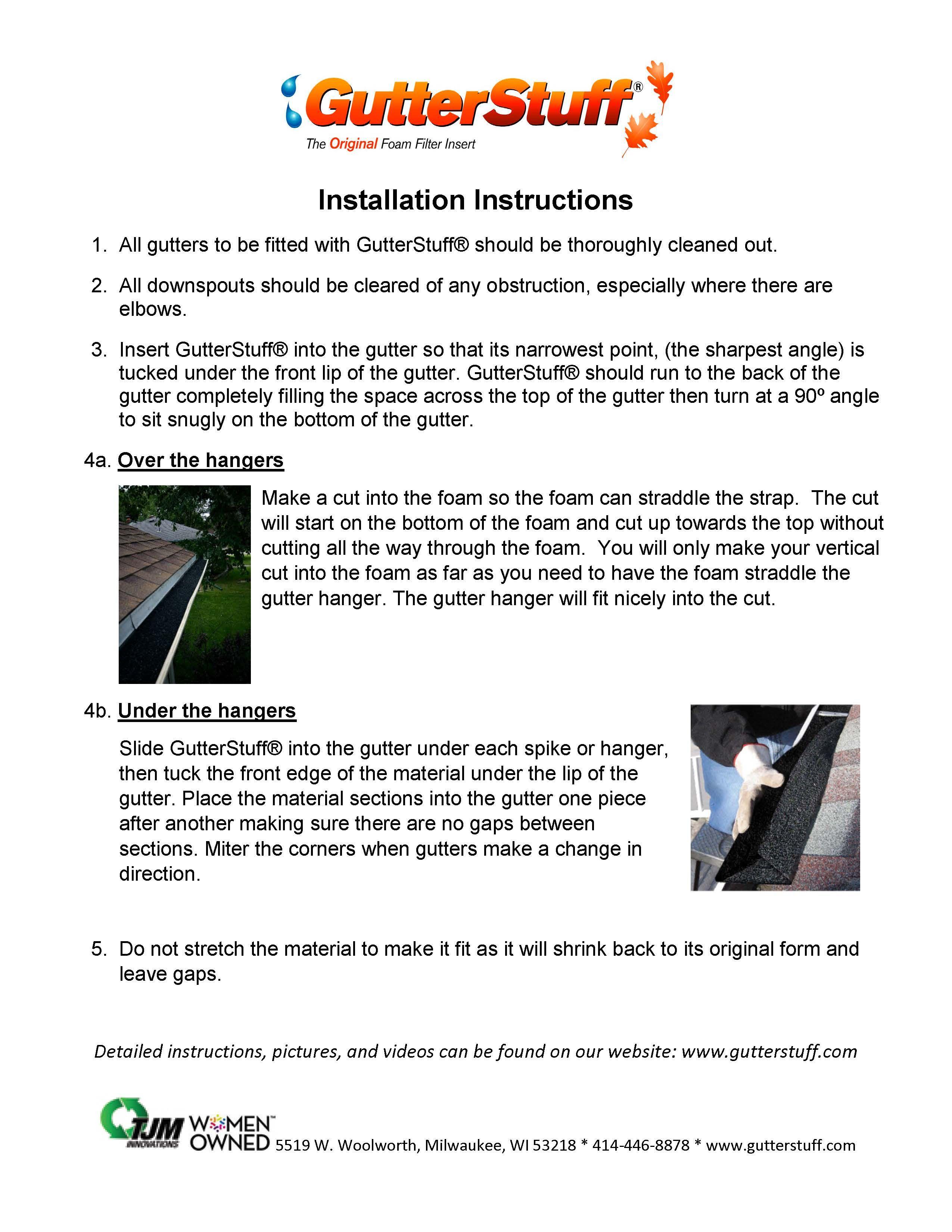 Installation Instructions Installation Installation Instructions Instruction