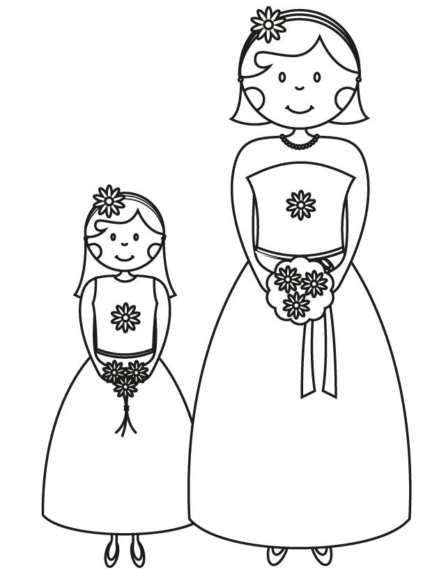 17 Wedding Coloring Pages for Kids Who Love to Dream About Their Big Day