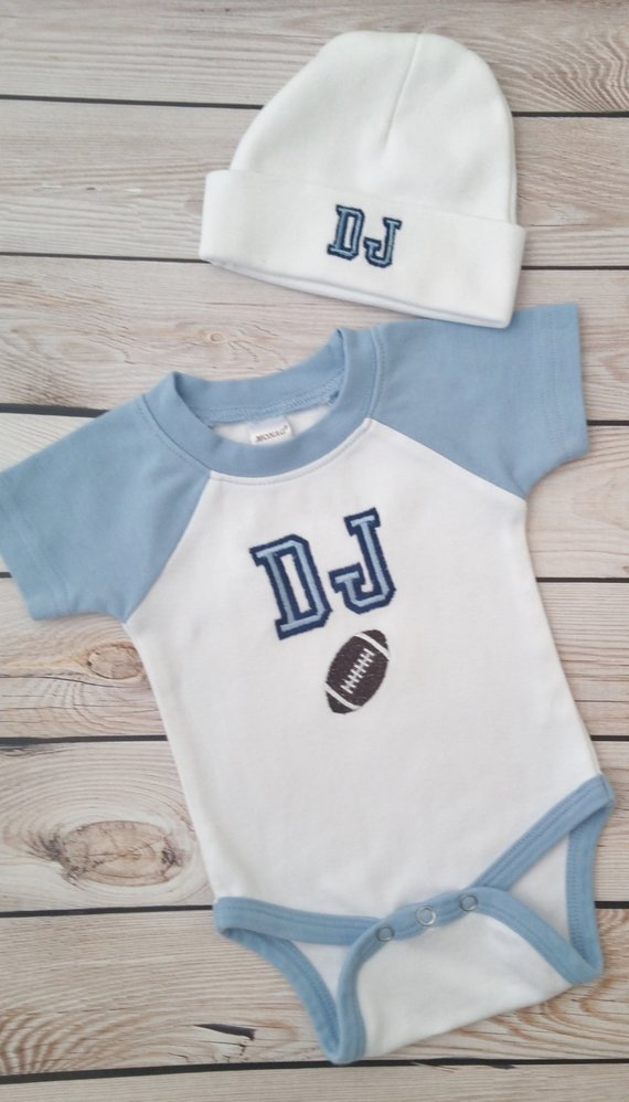 20201808e9b Baby Boy Coming Home Outfit Newborn Baby Boy Hat Personalized Bodysuit and  Cap with name