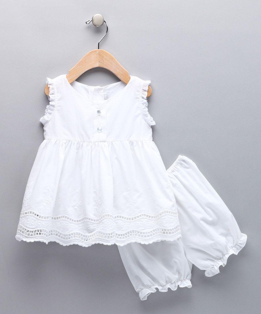 White Eyelet Dress Bloomers Infant Toddler Moda Infantil Roupas De Criancas Roupas Infantil [ 1201 x 1000 Pixel ]