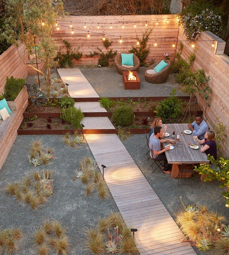 Outdoor Backyard landscaping, Small gardens, Backyard