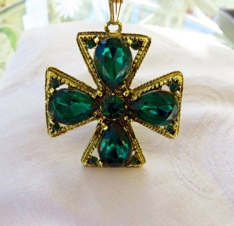 Vintage Maltese Cross Necklace Malta Jewelry Surfer Cross Maltese Pendant Maltese Cross Jewelry Jewelry Collection