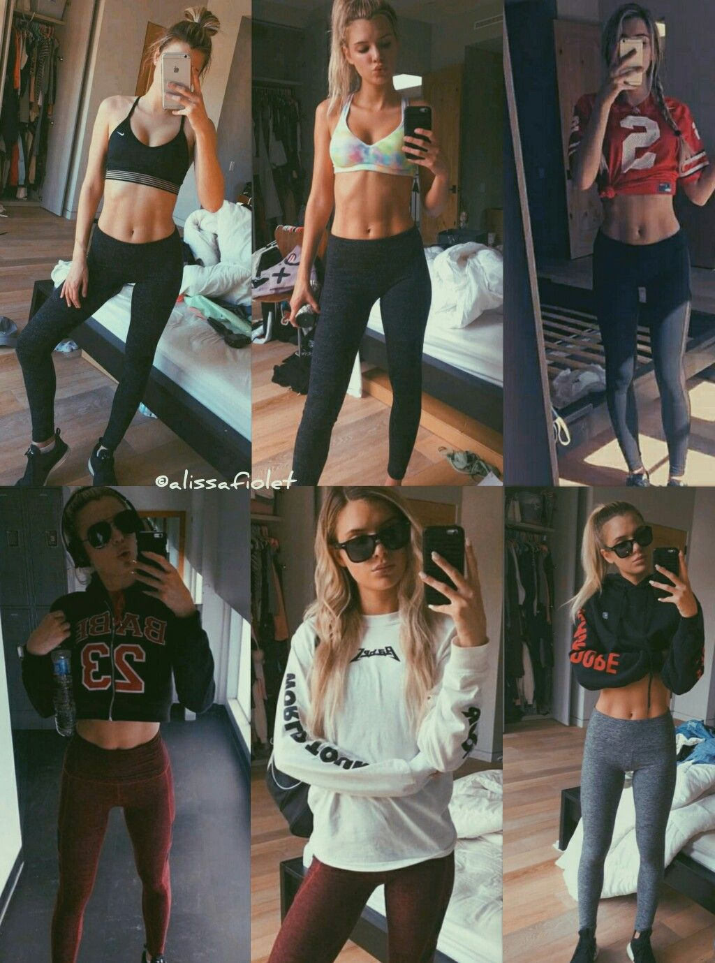 alissa violet sporty sport gym fitness outfit alissa violet