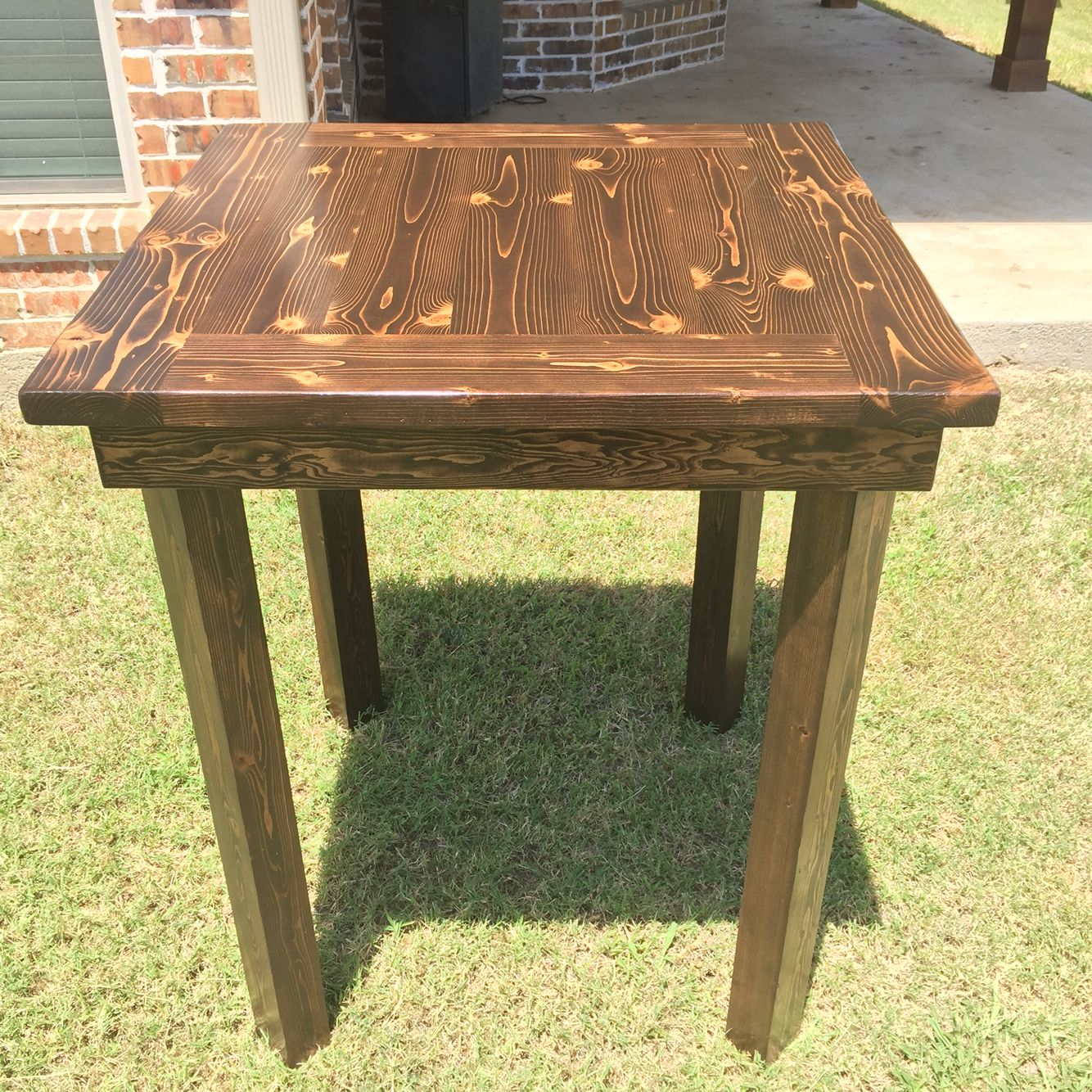 square  tall pub style high top table diy x kreg jig  to  -  square  tall pub style high top table diy x