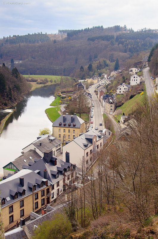 The Semois river that goes through Bouillon, Belgium