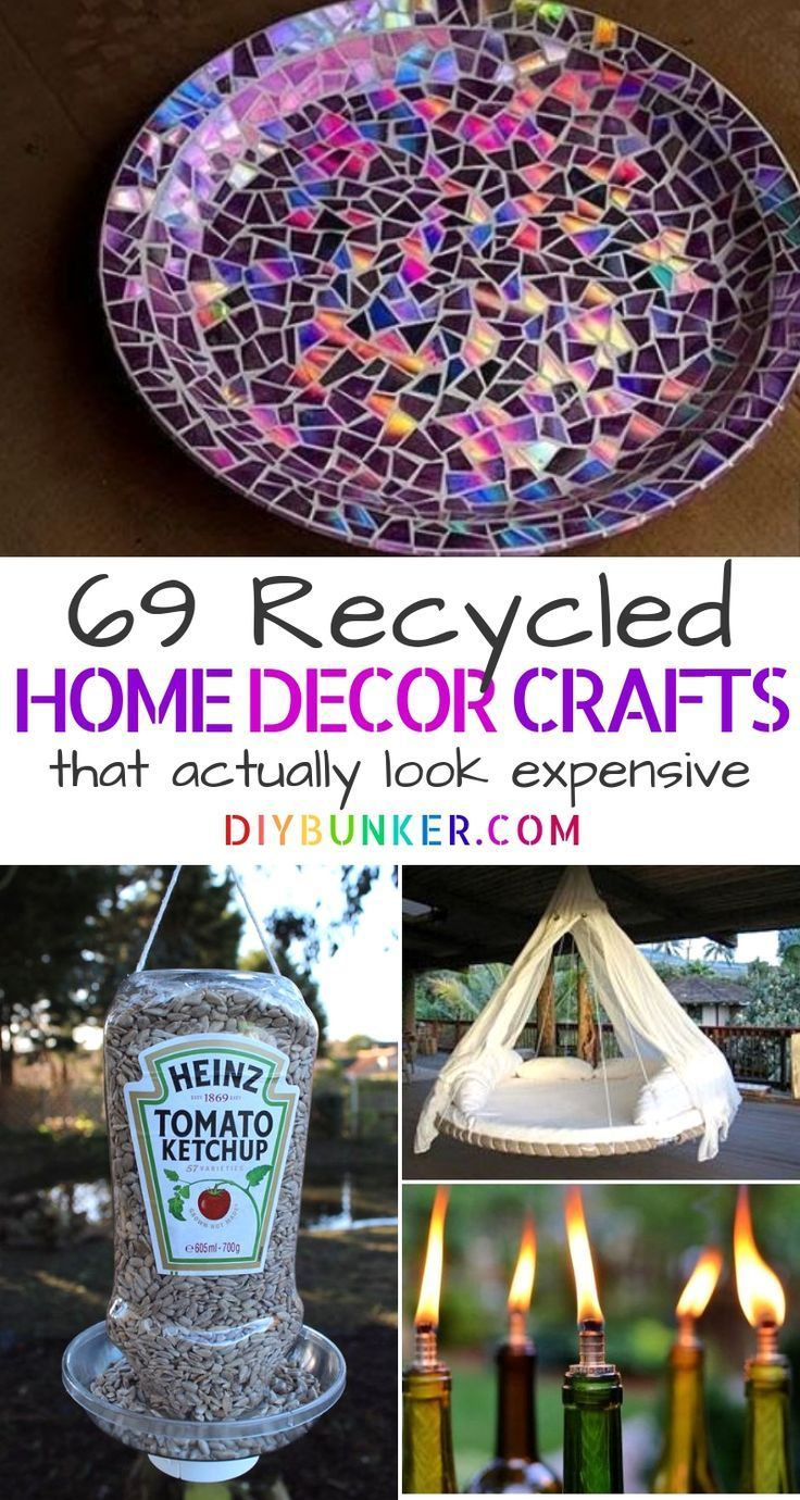 Recycling Projects: 70+ DIYs That'll Transform Your Home #recycledcrafts