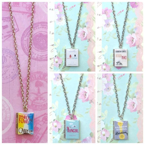 Rainbow Rowell Collection Book Necklace in 2019 | Book Jewelry