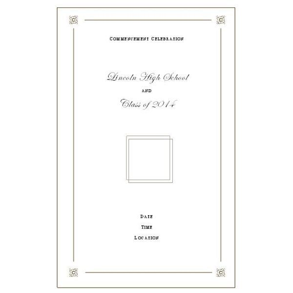 want to make your own graduation program templates make it easy intended for graduation program template microsoft word