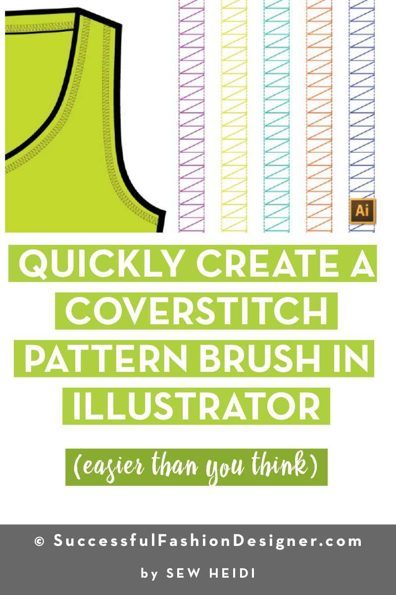Create A Coverstitch Pattern Brush In Illustrator Adobe
